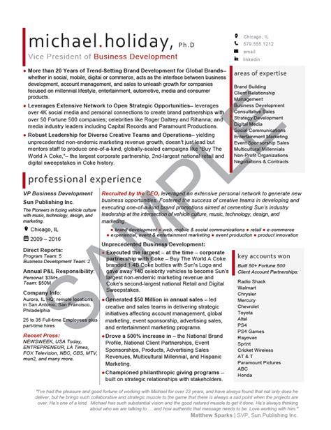 business development executive resume vice president vp resume sle elizabeth