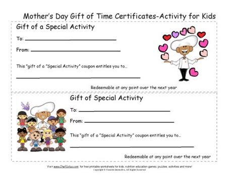 free printable gift certificates for mother s day printable mother s day gift certificates colorful sheets