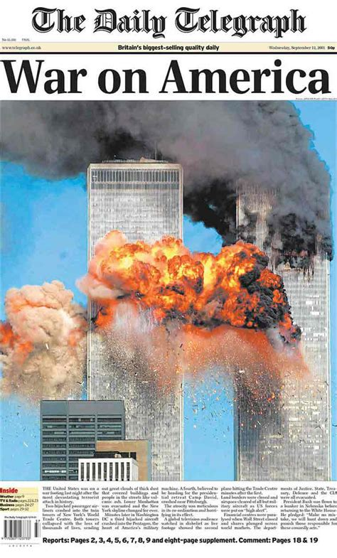 Daily Telegraph Articles Kehagias 9 11 rewind a look at front pages of newspapers following