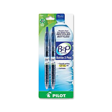 Bottle Gel Pen bottle to pen b2p b2p begreen point gel pens pil