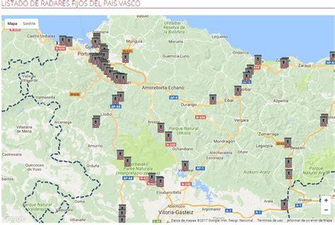camaras trafico pais vasco radares del pa 237 s vasco mapa y listado