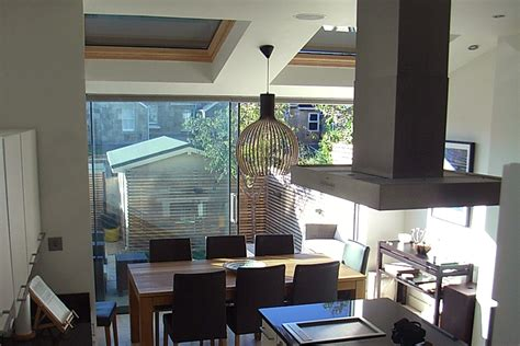 kitchen extension into garden of terraced house in bath