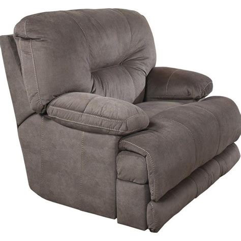 Lay Flat Recliner by Catnapper Noble Lay Flat Fabric Recliner In Slate