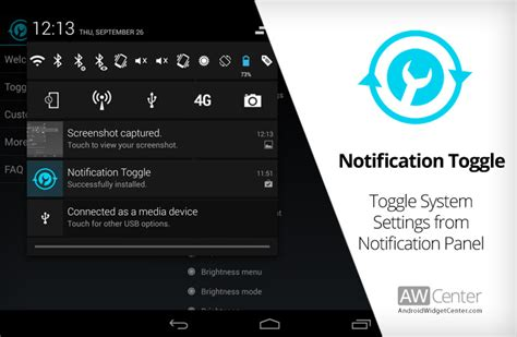 notification bar android enable disable system settings by toggle notification bar buttons awc