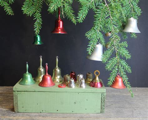 16 vintage small metal bells christmas tree bell