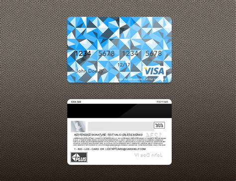 Visa Credit Card Design Template Bank Card Psd Template On Behance
