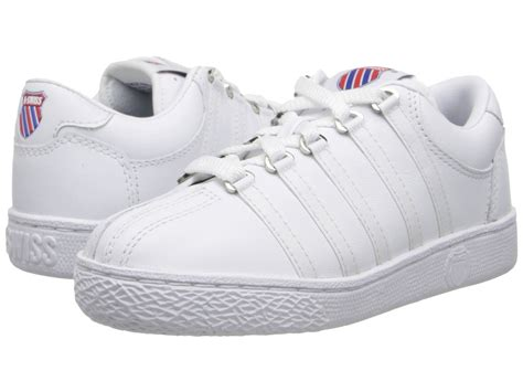 k swiss classic leather tennis shoe kid