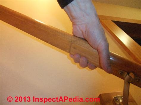 stair banister rail handrails guide to stair handrailing codes construction inspection