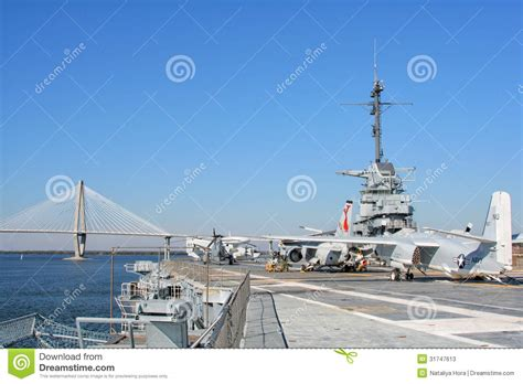 uss yorktown aircraft carrier in charleston usa stock photos image 31747613