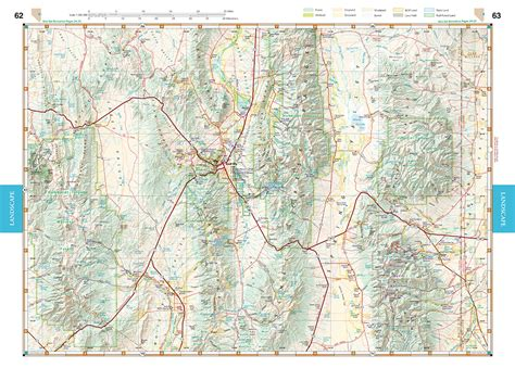 nevada road map atlas nevada road recreation atlas benchmark maps