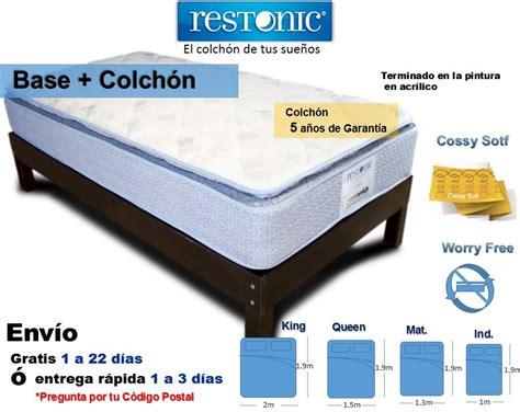 base para colchones base cama matrimonial de madera con colch 243 n tienda