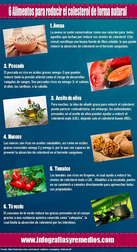 alimentos  reducir el colesterol de forma natural remedios naturales reducir el