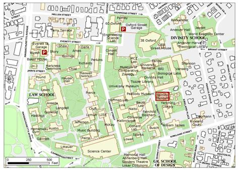 harvard map harvard yard map