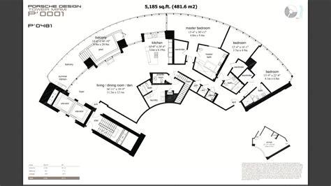 Yacht Floor Plan by Porsche Design Tower Sunny Isles Beach Condo One Sotheby