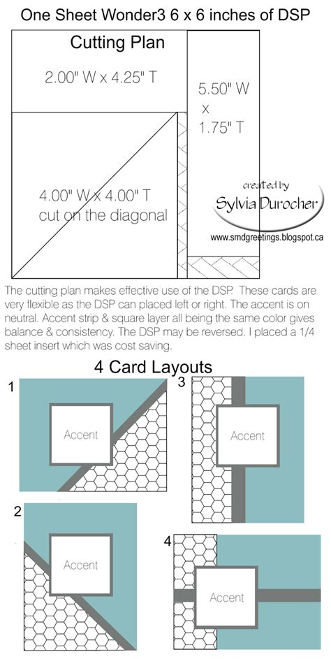 template for printing a card on 10x7 paper smd paper arts one sheet 3 6x6 template 4 cards