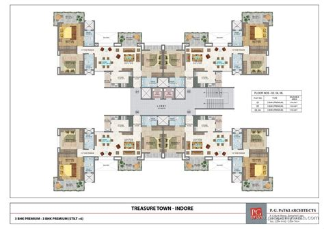 Inn Floor Plans by Treasure Town Bijalpur Indore Residential Plot Land