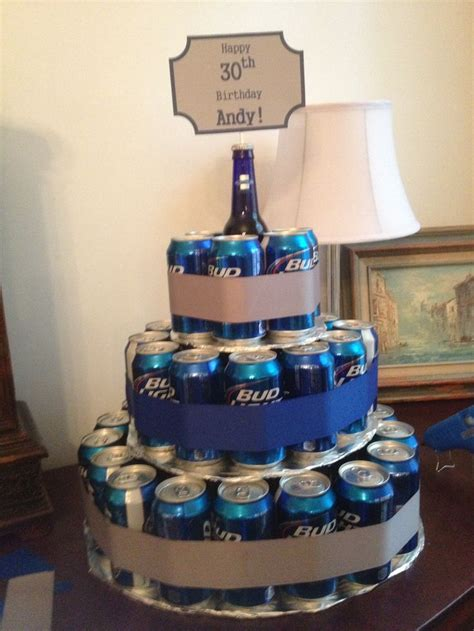 beer can cake beer can birthday cake i did this pinterest bottle