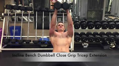 dumbbell close grip bench incline bench dumbbell close grip tricep press youtube