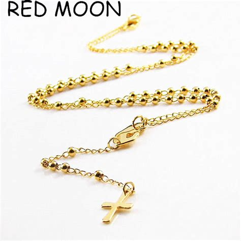 popular cross gold necklace buy cheap cross gold necklace