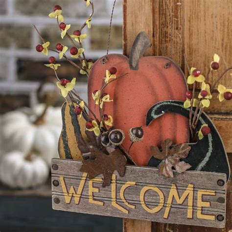 crafts direct for the holidays welcome to quot welcome quot primitive fall hanger thanksgiving