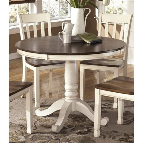 White Cottage Table by Whitesburg Dining Table In Brown And Cottage