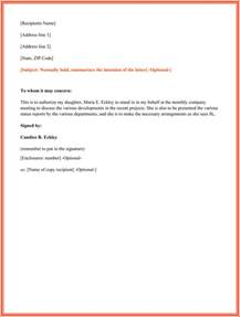 authorization letter sample 10 printable formats