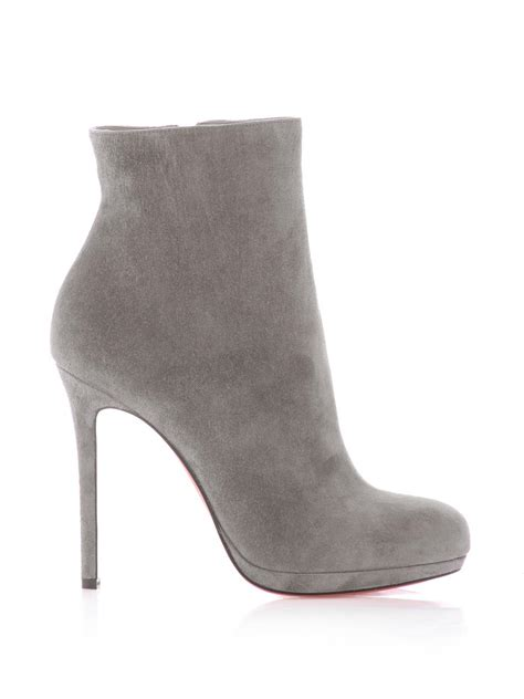 Christian Louboutin Ankle Boot by Christian Louboutin Bootylili 120mm Suede Ankle Boots In