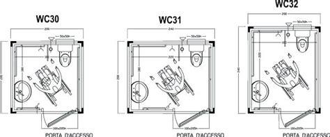obbligo bagno disabili bagno per disabili wc prefabbricati per disabili schema