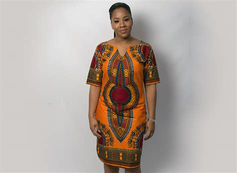 ladies fashion in kenya ghanaian orange angelina dress screams africa