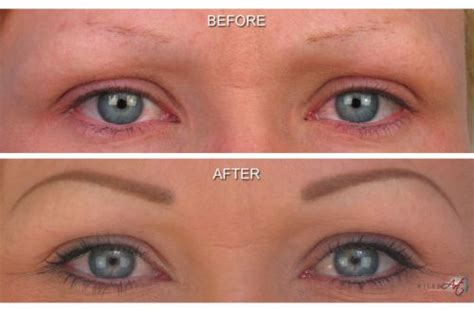 eyebrow tattoo before and after semi or easy eyebrow cost and before after photos