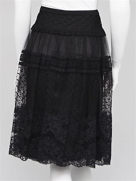 escada black lace midi skirt size 6 38 yoogi s closet