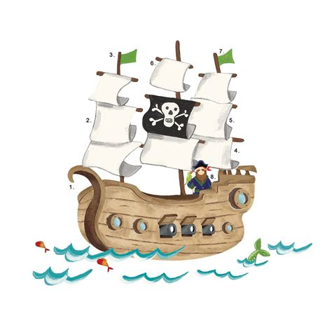 pirate ship wall stickers pirate ship wall sticker stickers for wall