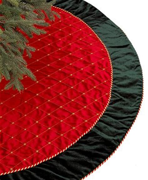 holiday lane red green velvet christmas tree skirt