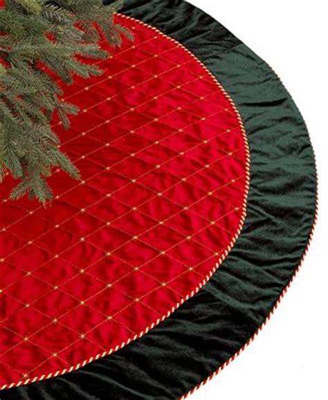 holiday lane red green velvet christmas tree skirt