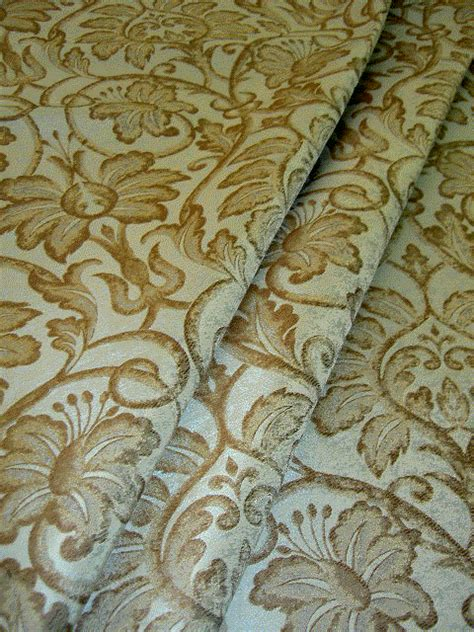 silk upholstery fabric fabric store remnant silk drapery upholstery damask brown