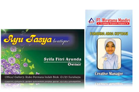 desain kartu id card ilmugrafis store pusat undangan dan toko desain grafis