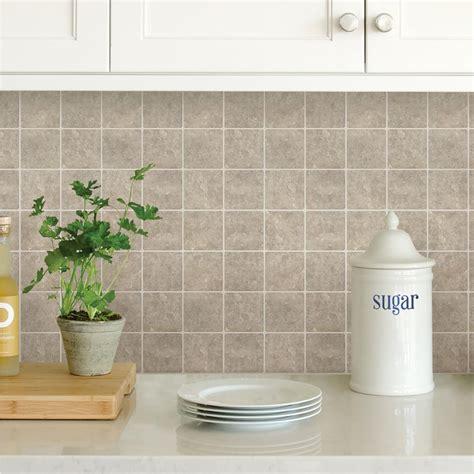 home depot kitchen backsplash peel and stick room design wallpops neutral travertine squares peel stick backsplash