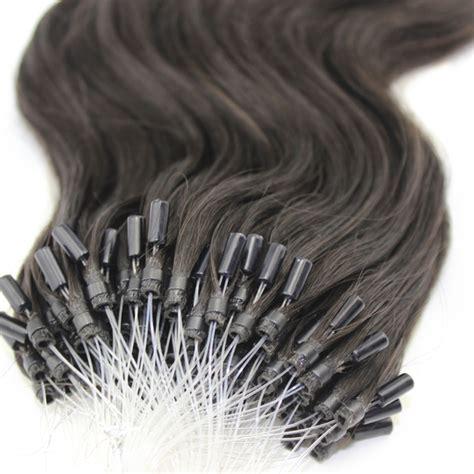 black 1b micro loop human 18 24 inches micro loop wave hair extensions 1b