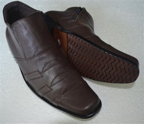Sepatu Boot Kulit Sapi Asli Juger 100 Coklat Tua jual sepatu formal kerja kantor pria semi boot kulit asli coklat branded sepatu kulit asli