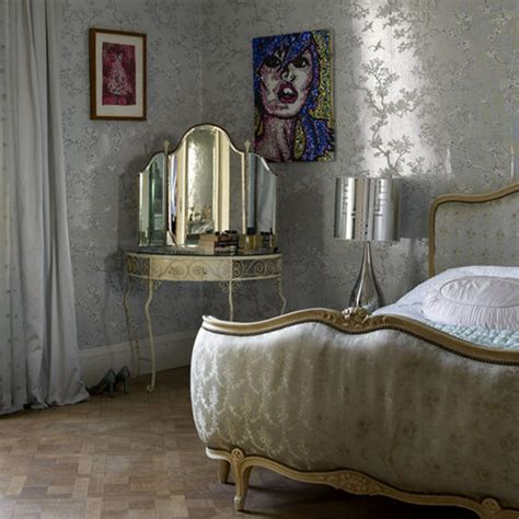 metallic bedroom wallpaper eye for design decorate with silver for stunning