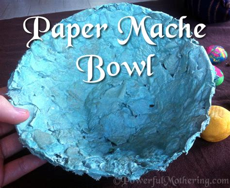 How To Make Paper Maiche - paper mache bowl craft