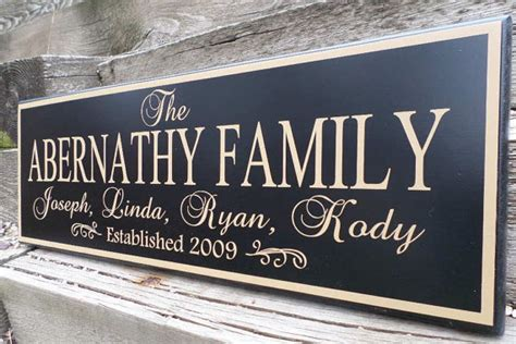 Handmade Family Name Signs - personalized family established wood sign last name