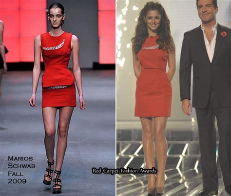 Catwalk To Carpet Thandie Newton In Marios Schwab by Runway To X Factor Week 5 Cheryl Cole In Jean Paul