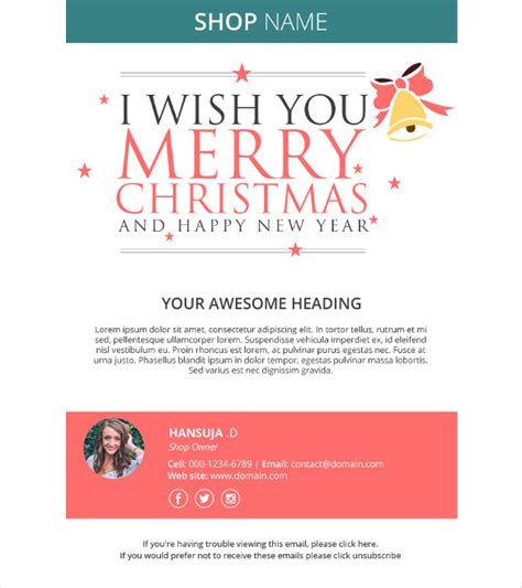 23 Holiday Email Templates Free Psd Vector Eps Png Format Download Free Premium Templates Greeting Email Template