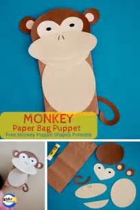 monkey paper bag puppet template best photos of paper bag puppet monkey monkey paper bag