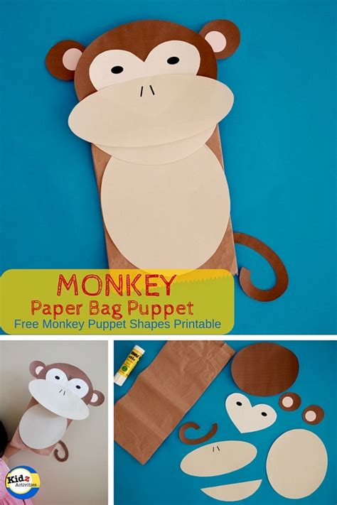 How To Make A Monkey Out Of Paper - monkey paper bag puppet kidz activities