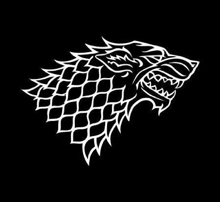 house stark of thrones vinyl decal in choice of