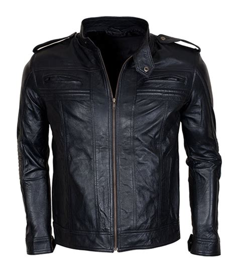 motor leather jacket detachable hooded aj styles motor biker leather jacket