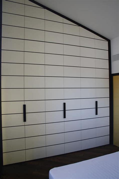 armadio 3 metri armadio da letto laccato e finiture in ciliegio su