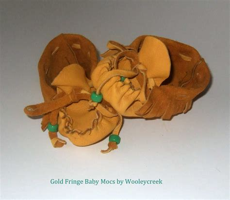 Handmade Moccasins For Sale - handmade deerskin leather baby moccasins with fringe for